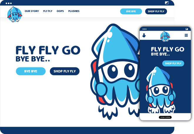 flyfly-bye-bye website example by spear brand - animated website example